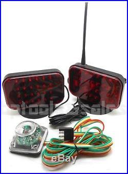 48 LED Wireless Tow Light Kit Magnetic Base Cordless Waterproof Truck Boat Haul