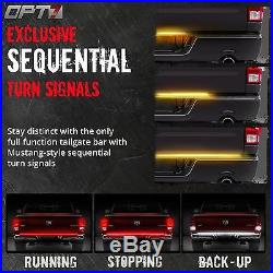 48 TRIPLE LED Tailgate Bar Sequential Turn Signal Pickup Reverse Brake Light