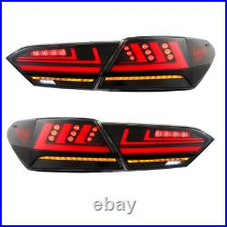 4PCS LED Clear Tail Lights For Toyota Camry 2018- 2021 Start-up Animation