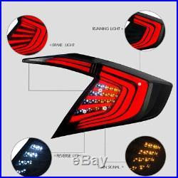 4pcs Tail Light For Honda Civic 2016-2019 Sedan Smoked Back Rear Lamp LED 1 Pair