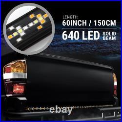 60 Solid Beam LED Tailgate Light Bar Sequential Turn Signal Flash Strobe Brake