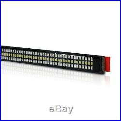 60'' TRIPLE LED Tailgate Bar Sequential Turn Signal Red Pickup Rear Brake Light