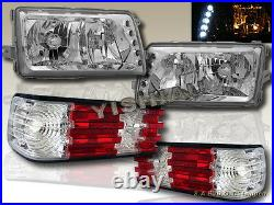 81-91 MERCEDES BENZ W126 S-CLASS SEDAN CLEAR LENS HEADLIGHTS withLED & TAIL LIGHTS