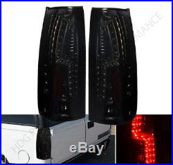 88-93 Chevy C1500 C2500 K1500 K2500 Smoke Lens Replacement Led Tail Lights