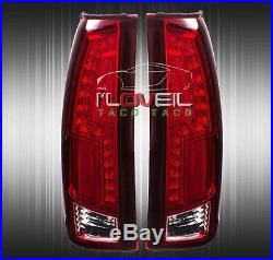 88-98 Chevy C/k Truck Direct Replacement Led Brake Stop Tail Lights Lamps Red