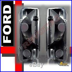 92 93 94 95 96 Ford F-150 Bronco Halo Projector Headlights & Tail Lights Black