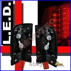 94-01 Dodge Ram 1500 2500 3500 Black Halo Projector Headlights + LED Tail Lights