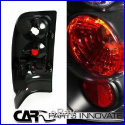 94-01 Ram 1500 2500 3500 Black Halo LED Projector Headlights+Black Tail Lamp