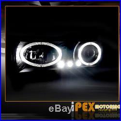 94-98 Chevy C/K1500 Suburban 10PC Projector LED Headlights + Tail Lights Black