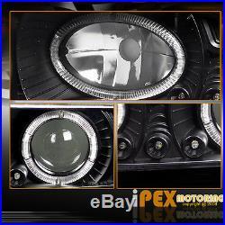 94-98 Chevy Silverado Tahoe Halo Projector LED Black Headlight+Signal+Tail Light