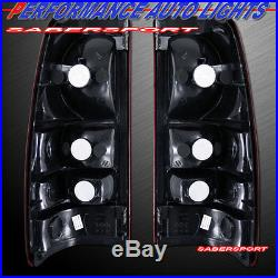 99-02 SILVERADO HALO PROJECTOR HEADLIGHTS with LED + BUMPER + SMOKE TAIL LIGHTS