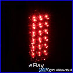 99-02 Silverado 99-03 Sierra Fleetside LED Tail Lights Brake Rear Lamps Red Pair