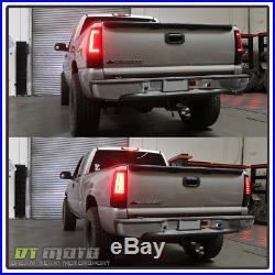 99 02 Silverado 99 06 Sierra Red Smoked C Shape Led Tail