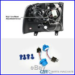 99-04 F250 F350 SuperDuty LED Halo Smoke Projector Headlights+LED Tail Lamps