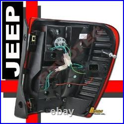 99-04 Jeep Grand Cherokee LED Tail Lights Red Smoke 1 Pair
