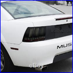 99-04 Mustang Glossy Black Sequential LED Smoke Lens Tail Lights Brake Lamps