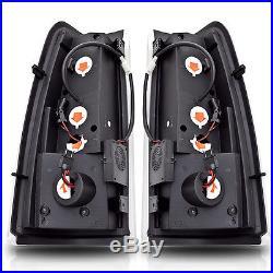 99-06 Chevy Silverado/99-02 GMC Sierra Black/Smoke LED Tail Lights Pair