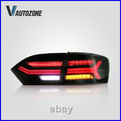 All Smoked Led Tail Lamps Fit For Volkswagen VW Jetta 2011-2014 Rear Lights 4pcs