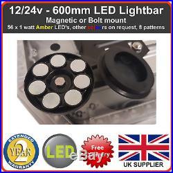 Amber LED Recovery Light bar 600mm 12/24v Flashing Beacon Truck Light Strobes
