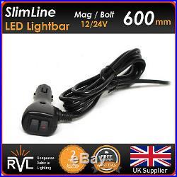 Amber LED Recovery Lightbar 600mm 12/24v Flashing Beacon Truck Light Strobes