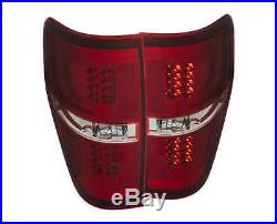 Anzo 311260 Pair of Red/Clear G2 LED Tail Lights for Ford F-150