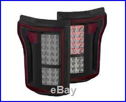 Anzo 311263 Pair of Smoke Black Housing LED Tail Lights for Ford F-150