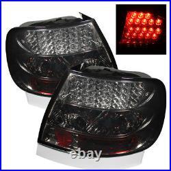 Audi 96-01 A4 00-02 S4 B5 Sedan Smoke Lens Rear LED Tail Brake Lights