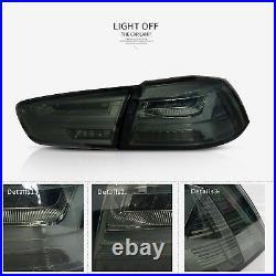 Audi Style Headlights&Tail Lights Smoked For MITSUBISHI LANCER/EVO X 2008-2017