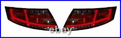 Audi Tt Mk2 8j 06-14 Led Red/clear Rear Tail Lights With Sequential Indicators