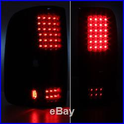 BLACK SMOKED 04-08 Ford F150 F-150 Pickup LED Tail Lights Lamps Left + Right