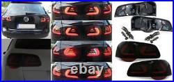 BLACK smoked LED lightbar TAIL rear LIGHTS FOR VW PASSAT 3C B6 Estate 05-10
