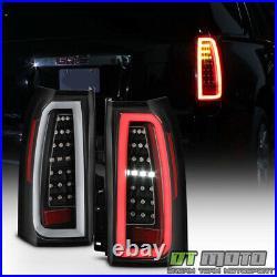 BLK 2015 2016 2017 2018 2019 GMC Yukon XL LED Light Tube Tail Lights Brake Lamps