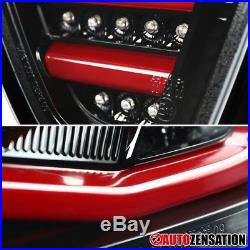 BMW 05-08 3-Series E90 4DR Tube LED Bar Slick Black Tail Lights Rear Brake Lamps
