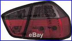 BMW 3 Series E90 (2006-2013) Red & Clear Bright LED Back Rear Tail Lights Pair