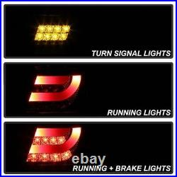 BMW 3-series 02-05 E46 4dr Black LED Rear Tail Lights Strip Tube Style 4 Door