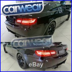 BMW E92 COUPE 06-13 LCI LED CLEAR RED STYLE TAIL LIGHTS M3 320d 325d 330d 335i