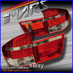 BMW X5 E70 Clear RED LED Tail Lights Pre LCI 07-10 M Sports Taillight