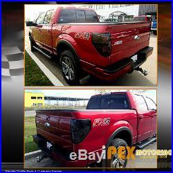 BRIGHTEST 2009-2014 Ford F150 SVT Raptor STX XLT FX2 FX4 LED Tail Light Smoke