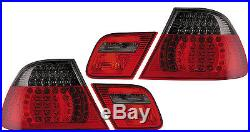 Back Rear Tail Lights Lamps Red-Black LED Pair For BMW E46 Coupe 99-3/03 On