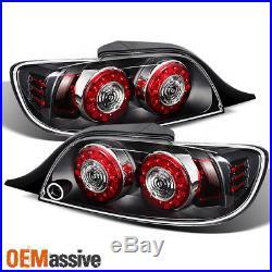 Black 04-08 Mazda RX8 RX-8 JDM Dual Round LED Tail Light Rear Brake Signal Lamp