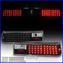 Black 1987-1993 Ford Mustang LED Tail Lights Brake Lamps 87-93 Left+Right Pair