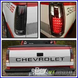 Black 1988-1998 chevy Silverado C/K Suburban Tahoe Sierra LED Tail Lights Lamps