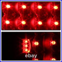 Black 1996-2000 Dodge Caravan Voyager 98-03 Durango LED Tail Lights Brake Lamps