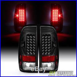 Black 1997-2003 Ford F150 99-07 F250 F350 SuperDuty LED Tail Lights Brake Lamps