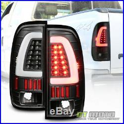 Black 1997-2003 Ford F150 LED Light Bar Tail Lights Brake Lamps Left+Right 97-03