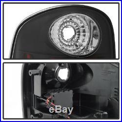 Black 1997-2003 Ford F-150 F150 Flareside Lumiled LED Tail Lights Brake Lamps