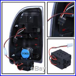 Black 1997-2004 Dodge Dakota LED Tail Lights Brake Lamps Replacement Left+Right