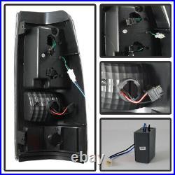 Black 1999-2002 Chevy Silverado 99-06 GMC Sierra C-Strip LED Tail Lights Lamps