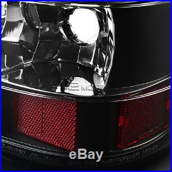 Black 1999-2002 Chevy Silverado GMC Sierra LED Tail Lights Brake Lamp Left+Right