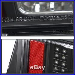 Black 1999-2004 Ford Mustang Sequential LED Tail Lights Brake Lamps Left+Right